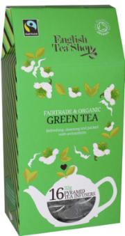 Ekologiška arbata ENGLISH TEA SHOP Green tea, 16 maišelių