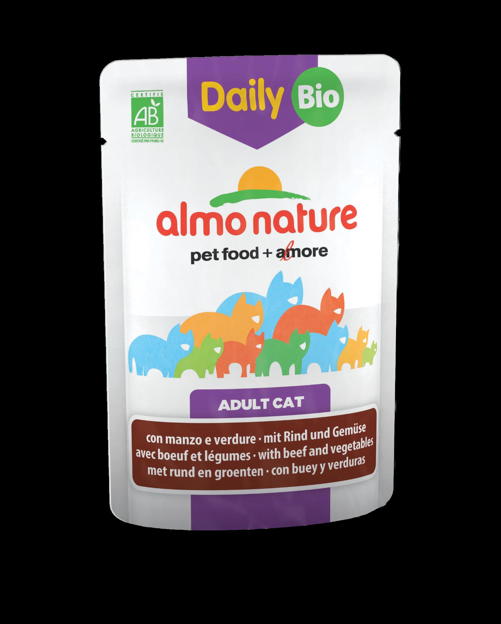 Kačių ėdalas ALMO NATURE Daily Menu BIO su jautiena ir daržovėmis, 70 g