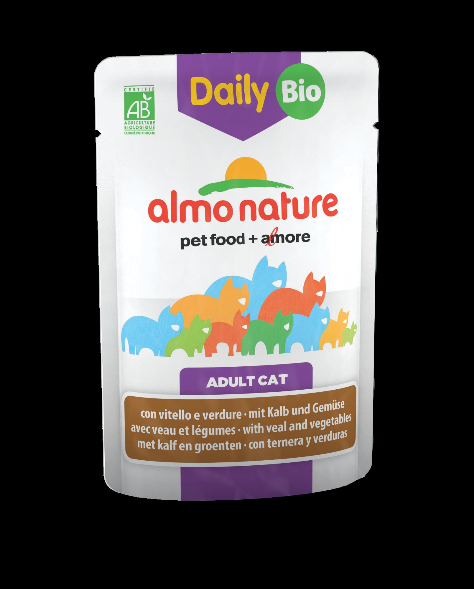 Kačių ėdalas ALMO NATURE Daily Menu BIO su veršiena ir daržovėmis, 70 g