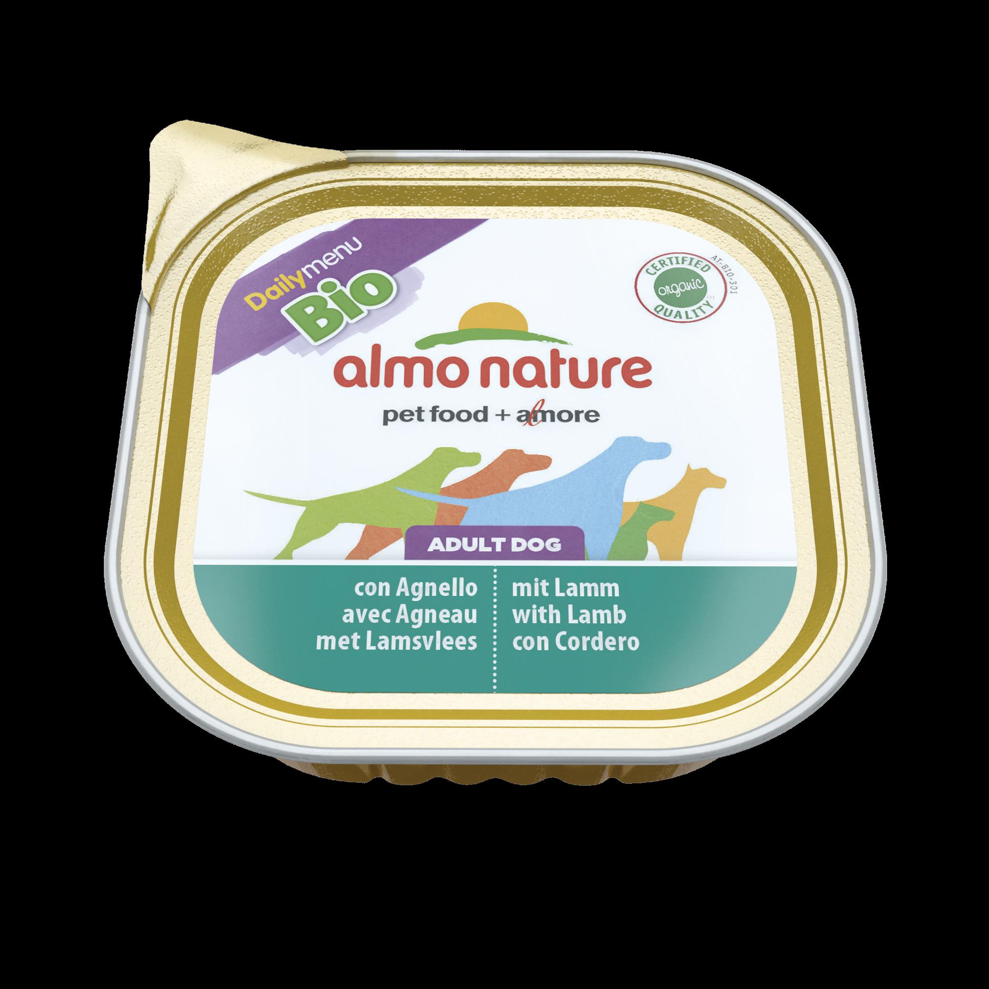 Šunų ėdalas ALMO NATURE Daily Menu BIO su ėriena, 300 g