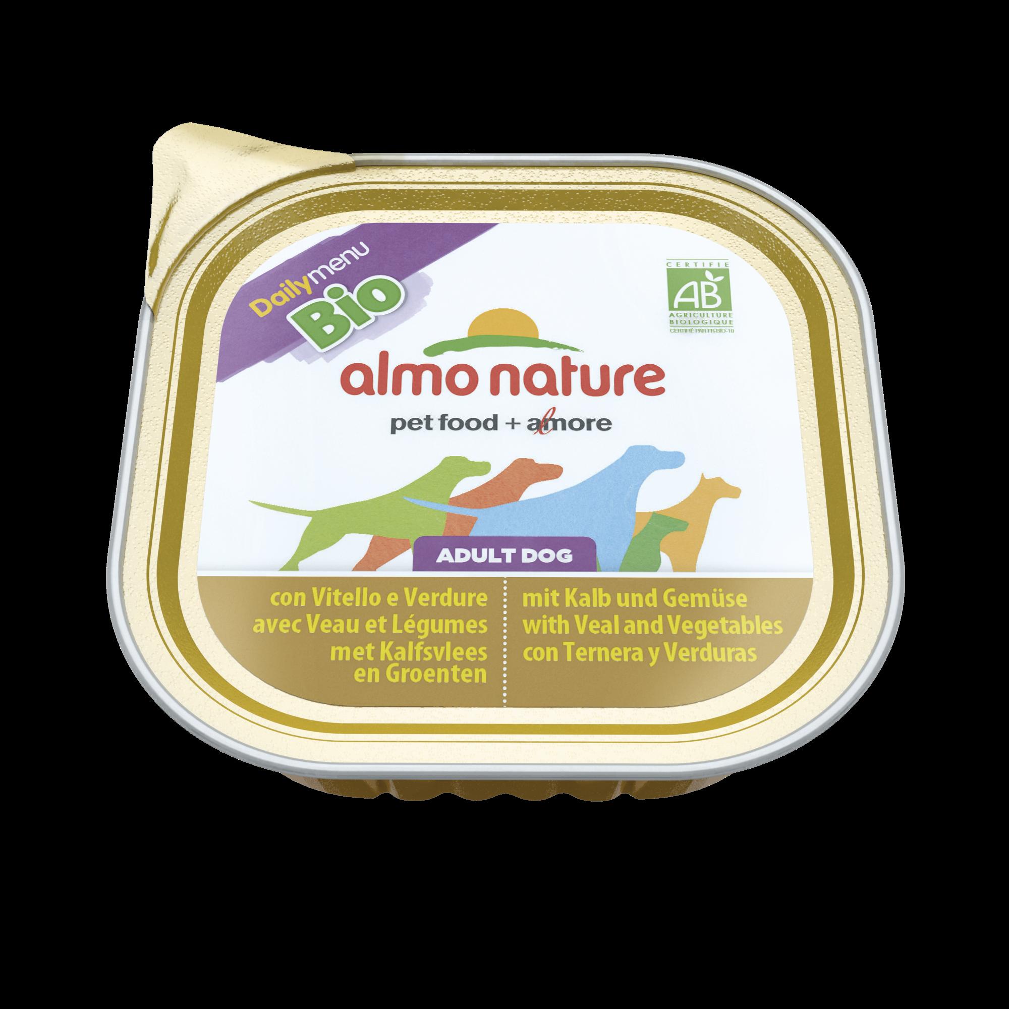 Šunų ėdalas ALMO NATURE Daily Menu BIO su veršiena ir daržovėmis, 300 g