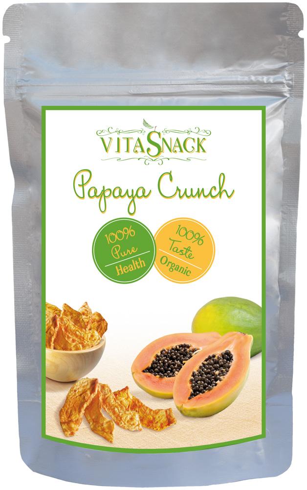 VITA SNACK žaliavalgiškos, traškios ir džiovintos papajos, 24 g