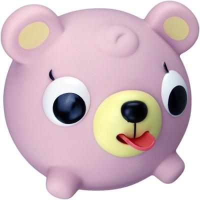 Emocinis žaisliukas JABBER BALL Rožinis meškutis vaikams nuo 18 mėn.