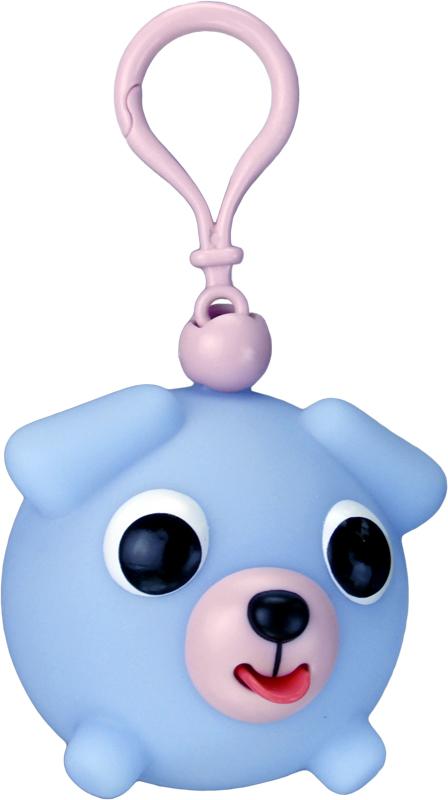 Emocinis žaisliukas-pakabukas JABBER BALL JR. Melsvas šuniukas vaikams nuo 18 mėn.