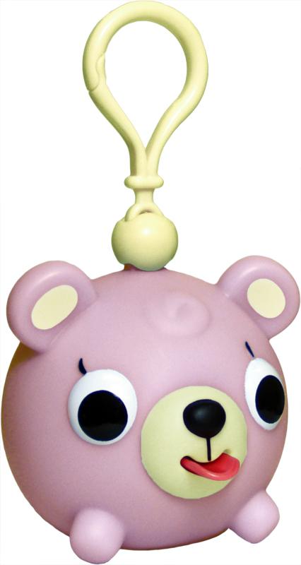 Emocinis žaisliukas-pakabukas JABBER BALL JR. Rožinis meškutis vaikams nuo 18 mėn.