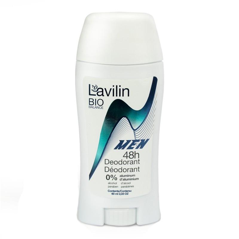 Pieštukinis dezodorantas LAVILIN BIO BALANCE Vyrams 48 val., 60 ml