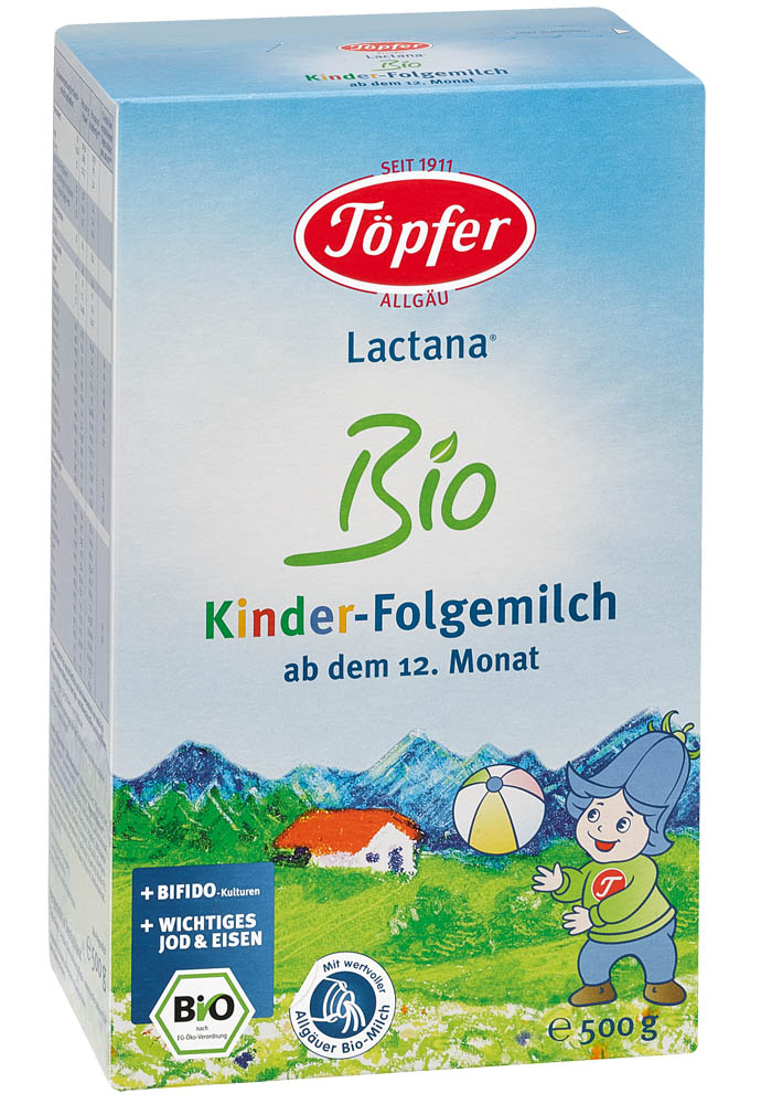 TÖPFER LACTANA Bio 4 ekologiškas tolesnio maitinimo pieno mišinys vaikams nuo 12 mėn, 500 g