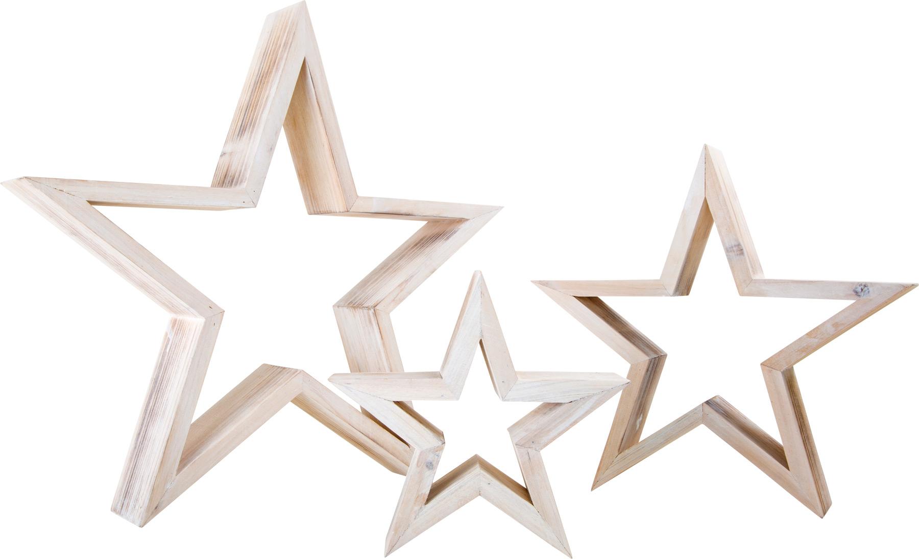 Medinių dekoratyvinių žvaigždžių rinkinys SMALL FOOT