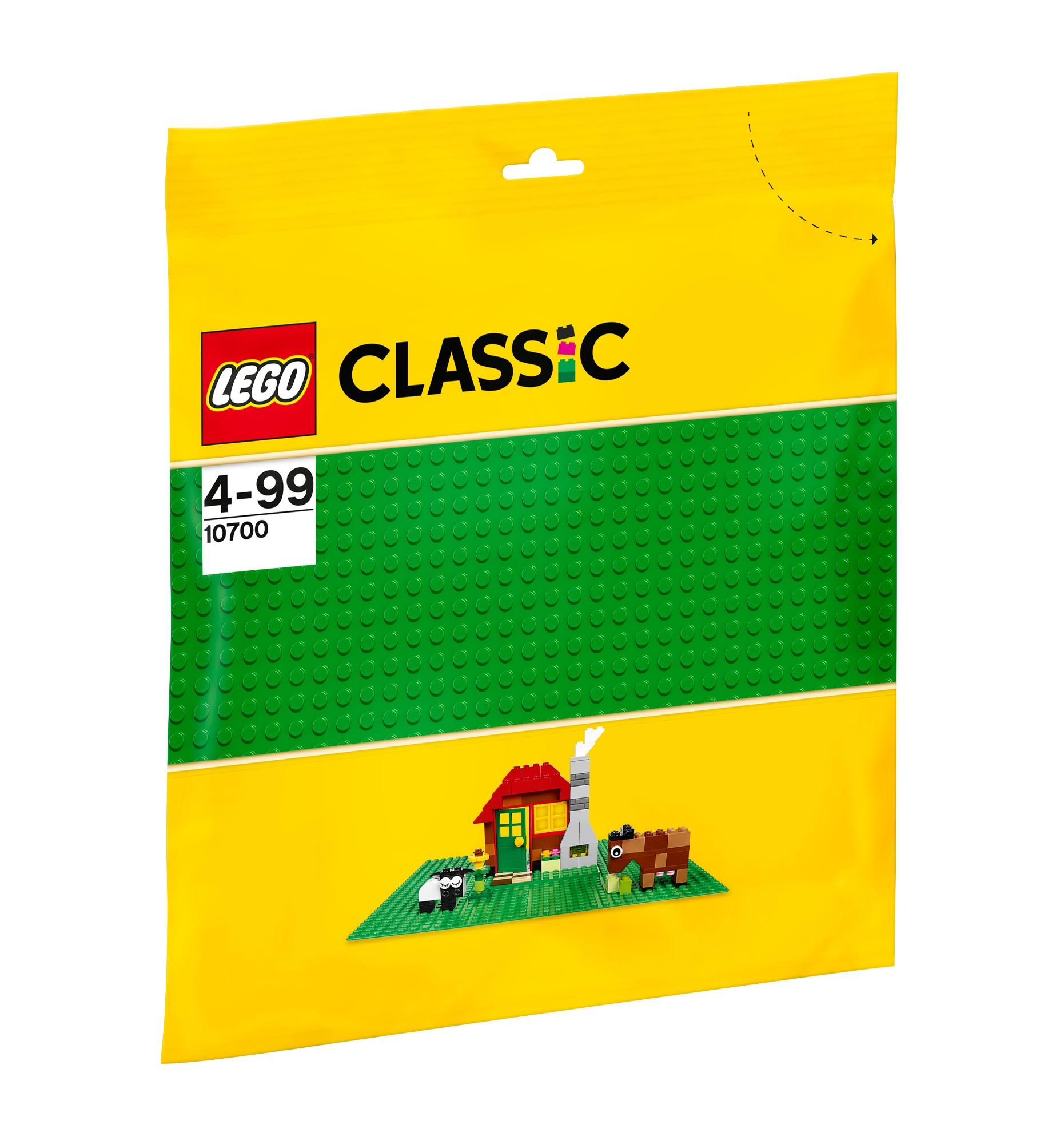 Žalia pagrindo plokštė LEGO Classic vaikams nuo 4 metų, 25 x 25cm (10700)