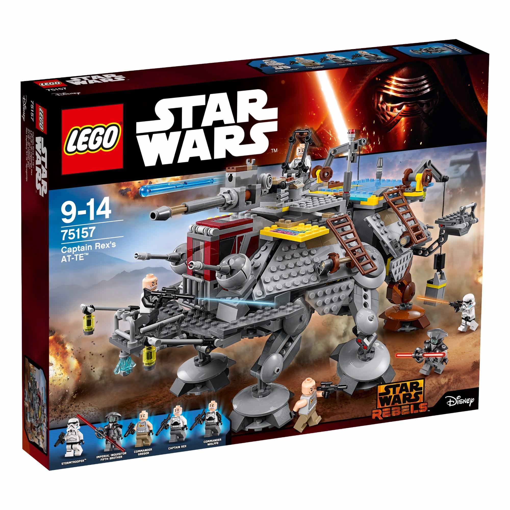 Konstruktorius LEGO Star Wars™ Captain Rex's AT-TE 9-14 m. vaikams (75157)