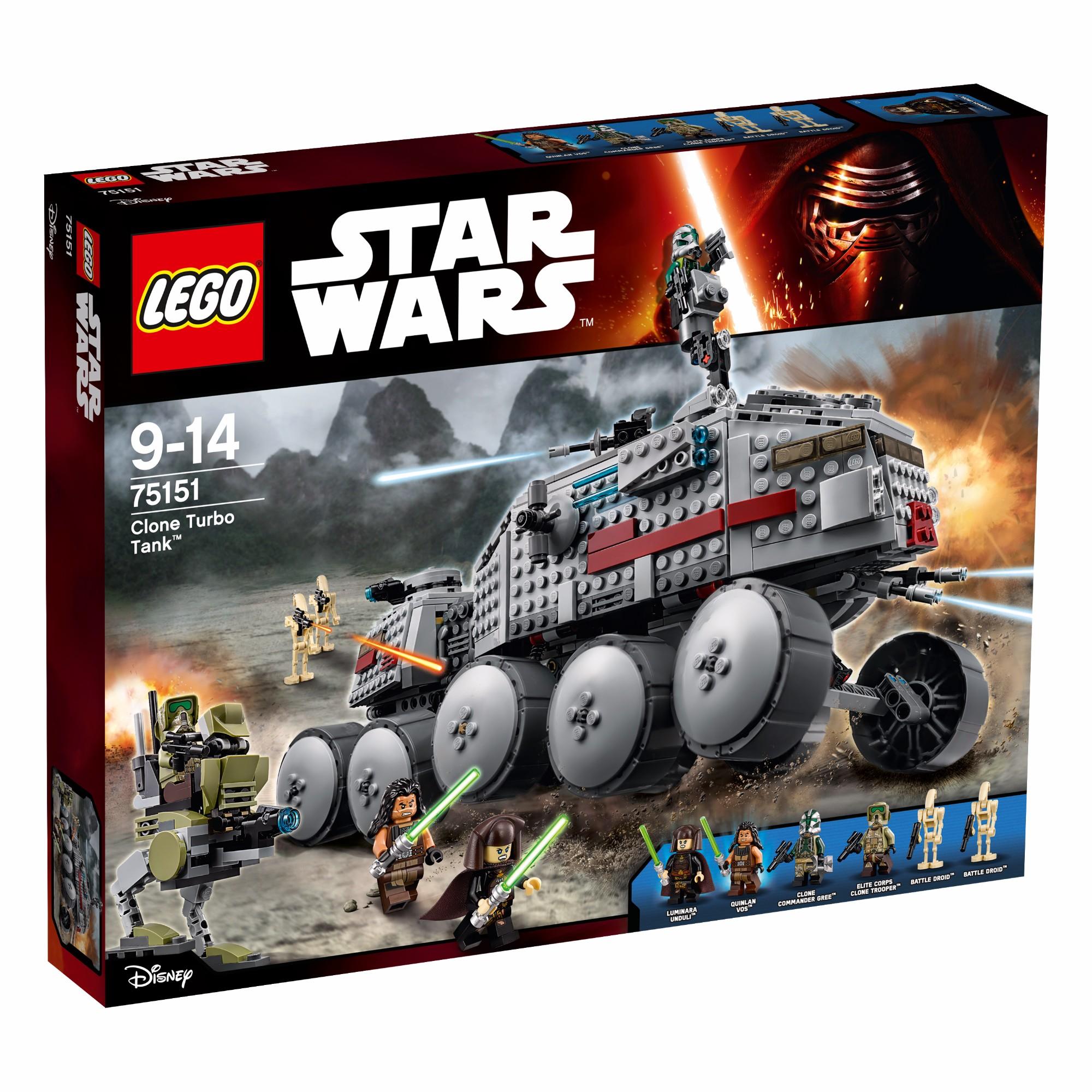 Konstruktorius LEGO Star Wars™ Clone Turbo Tank 9-14 m. vaikams (75151)