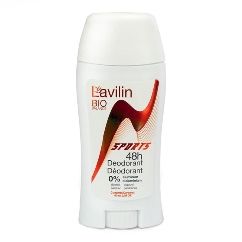Pieštukinis dezodorantas LAVILIN BIO BALANCE Sportui 48 val., 60 ml