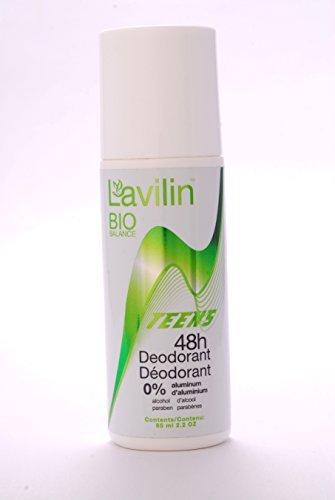 Rutulinis dezodorantas LAVILIN BIO BALANCE Paaugliams 48 val.,65 ml