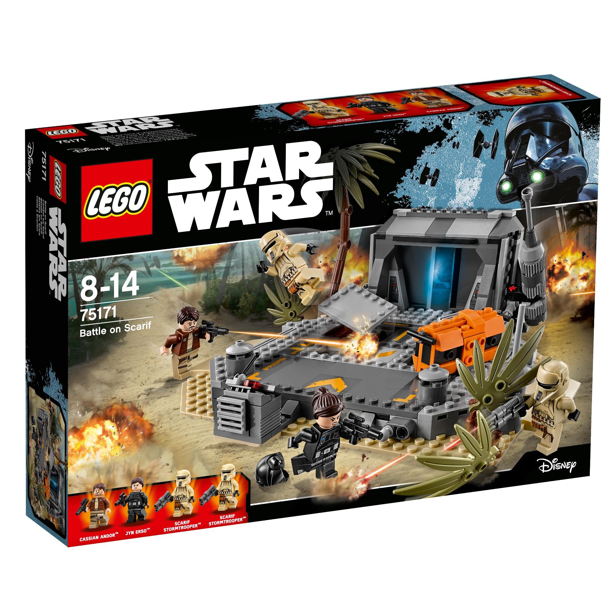 Konstruktorius LEGO Star Wars Mūšis Skarif planetoje 8-14 metų vaikams (75171)