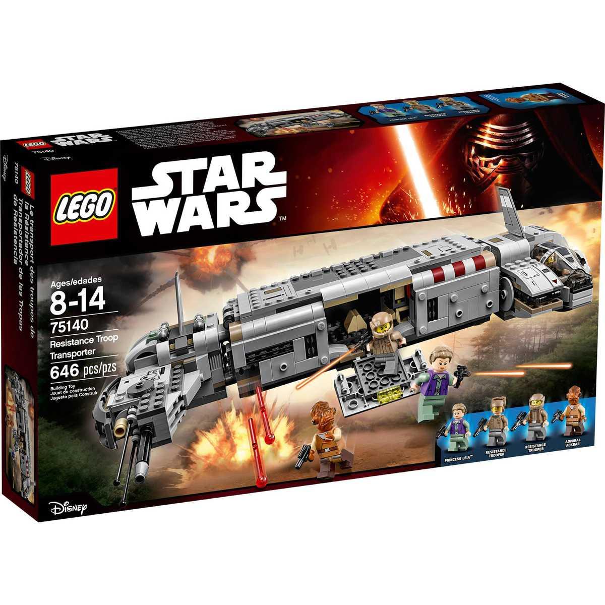 Konstruktorius LEGO Star Wars TM Resistance Troop Transporter 8-14 m. vaikams (75140)