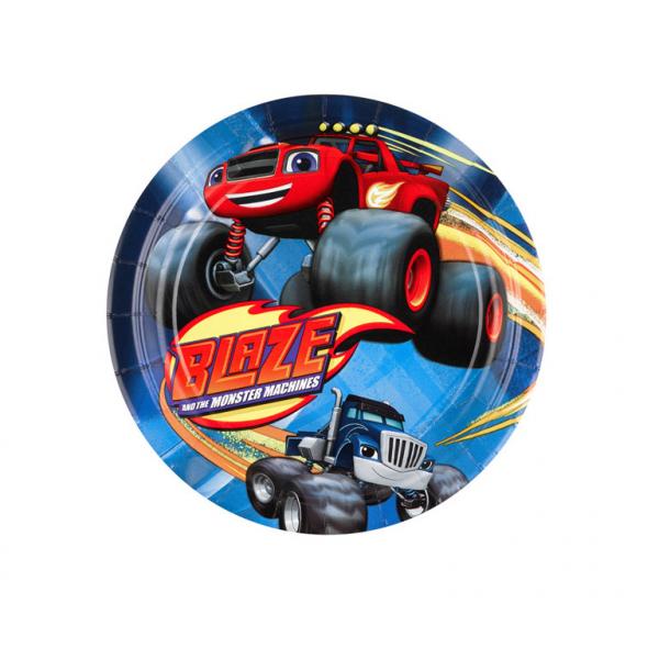 Vienkartinės lėkštutės AMSCAN Blaze, 8 vnt., 18 cm