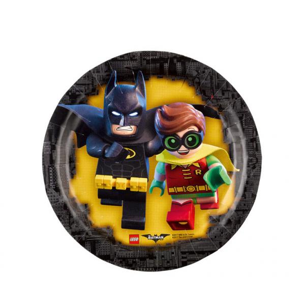 Vienkartinės lėkštutės AMSCAN Lego Batman, 8 vnt., 18 cm