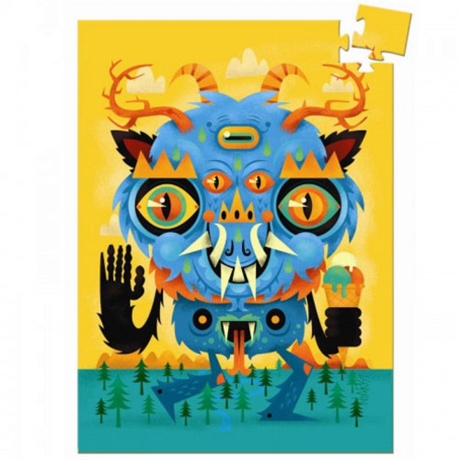 Mini dėlionė DJECO The Monster vaikams nuo 5 metų (DJ07673)