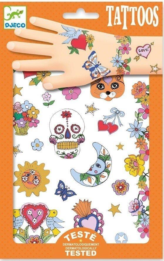 Tatuiruočių rinkinys DJECO Fiesta vaikams nuo 3 metų (DJ09578)