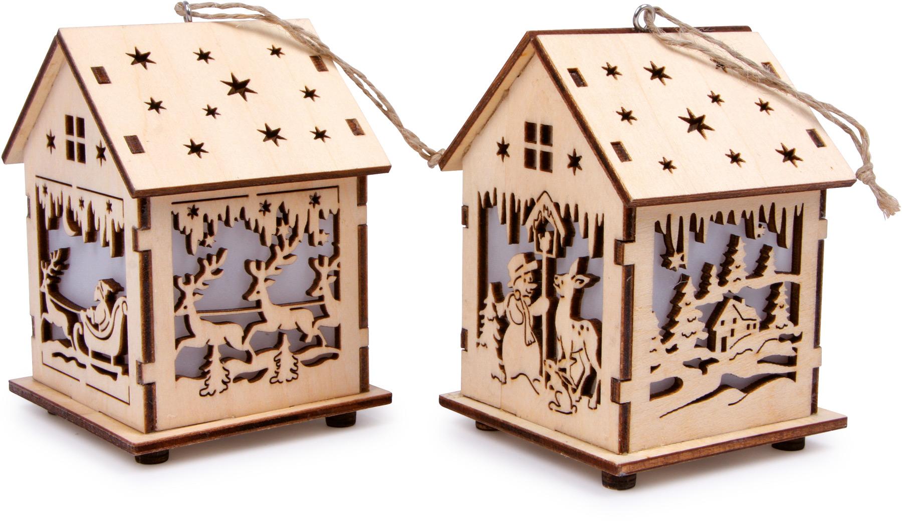 Šviečiantis kalėdinis namelis SMALL FOOT, 1 vnt.