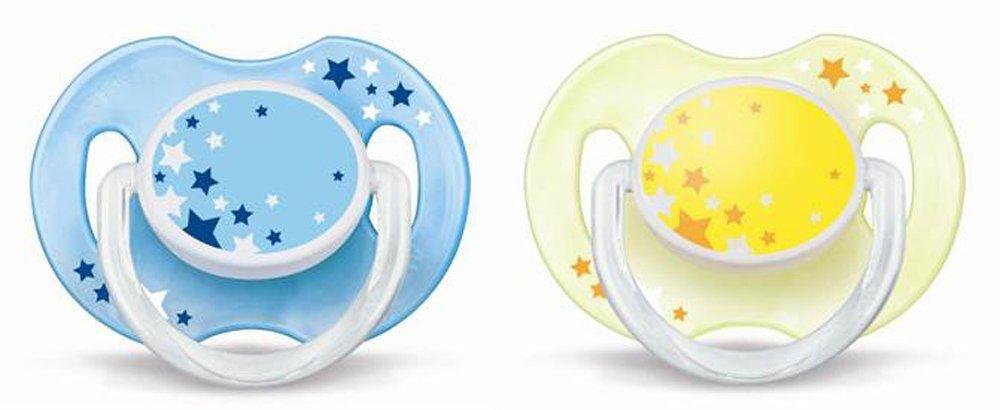Silikoninis naktinis čiulptukas PHILIPS AVENT N2 0-6 mėn. kūdikiams, 2 vnt.