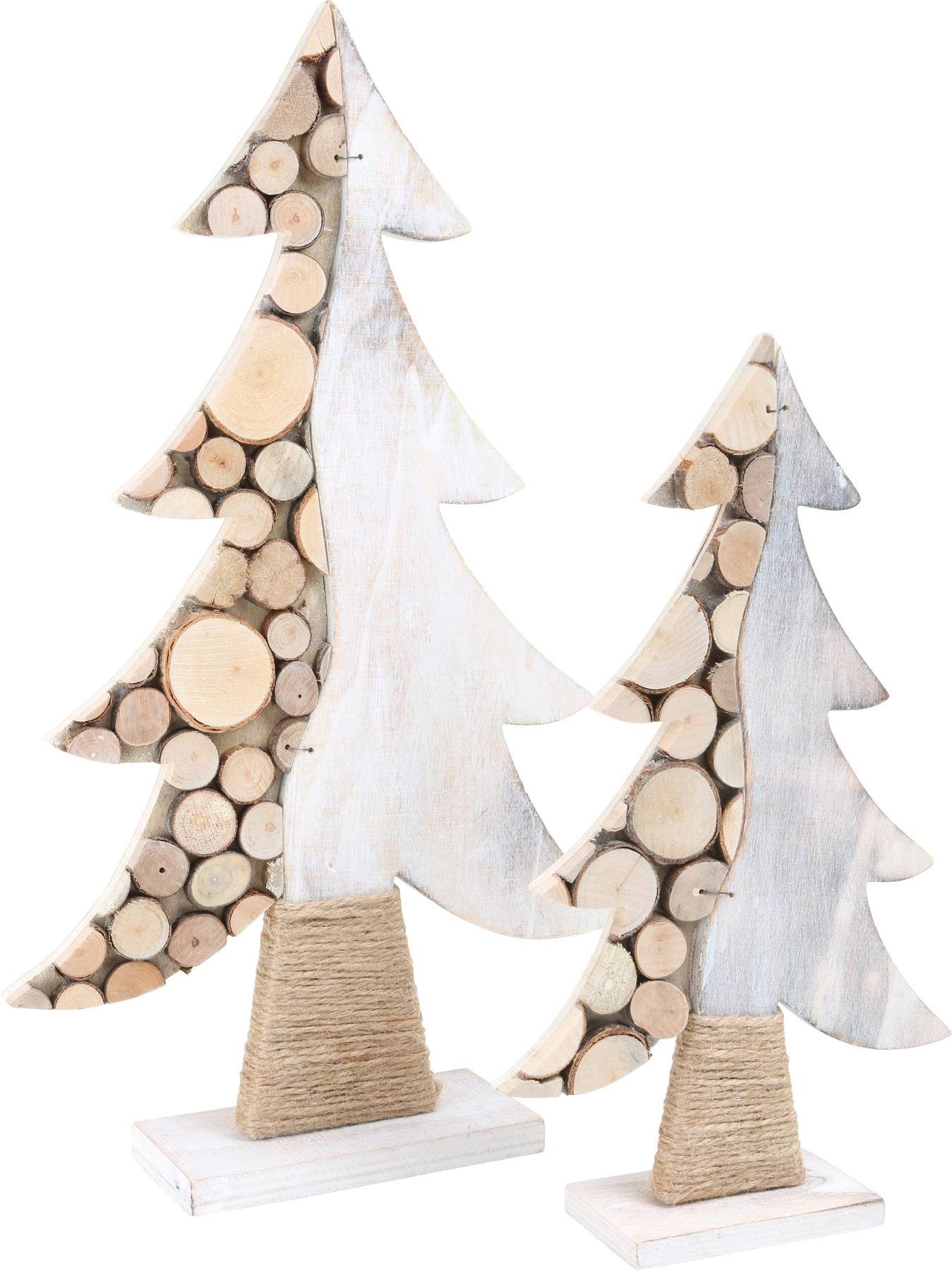 Kalėdinė dekoracija SMALL FOOT Eglutės, 2 vnt.