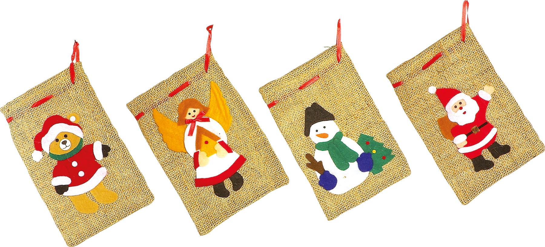 Kalėdiniai maišeliai SMALL FOOT, 4 vnt.