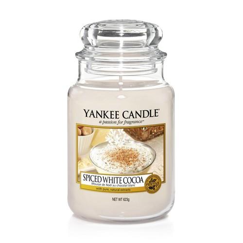 Žvakė stiklainėlyje YANKEE CANDLE Spice White Cocoa didelė 623 g, 1 vnt.