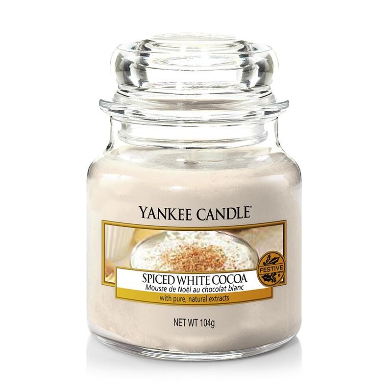 Žvakė stiklainėlyje YANKEE CANDLE Spice White Cocoa maŽa 104 g, 1 vnt.