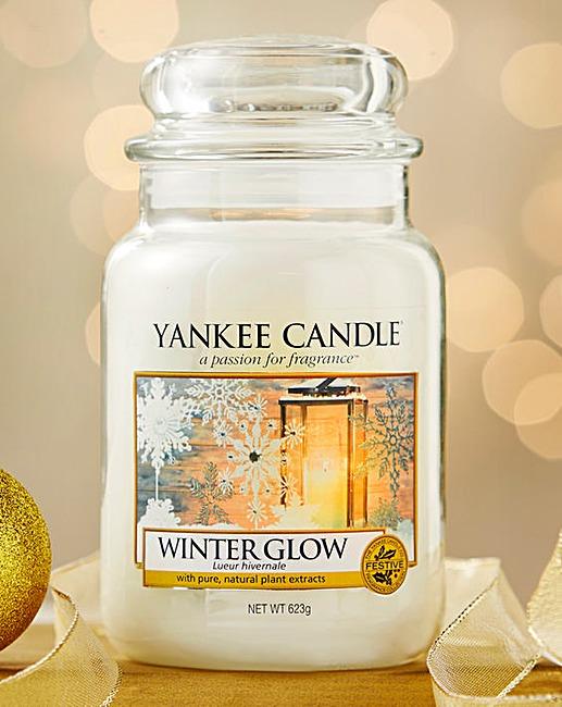 Žvakė stiklainėlyje YANKEE CANDLE Winter Glow Candle, didelė,  623g