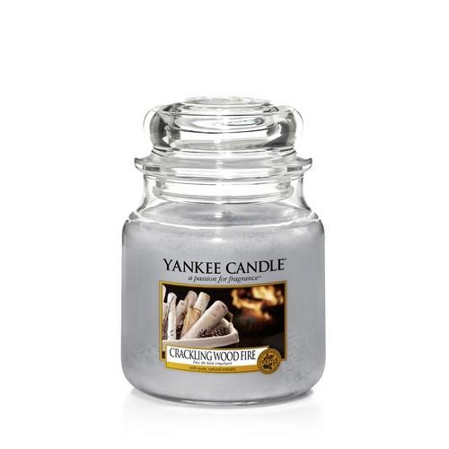 Žvakė stiklainėlyje YANKEE CANDLE Crackling Wood Fire maŽa 104 g, 1 vnt.