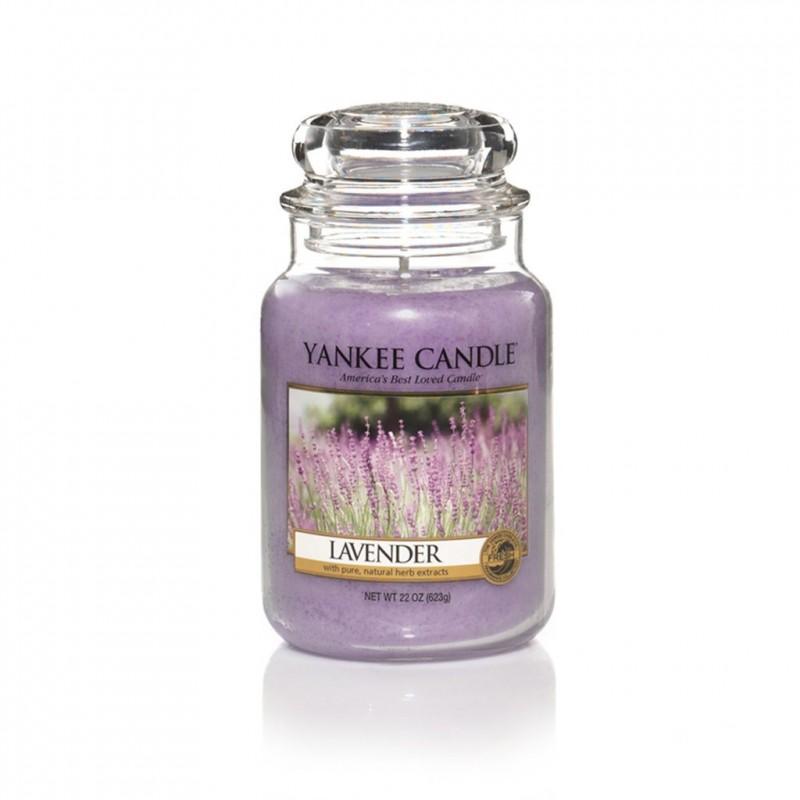 Žvakė stiklainėlyje YANKEE CANDLE Lavender didelė 623 g, 1 vnt.