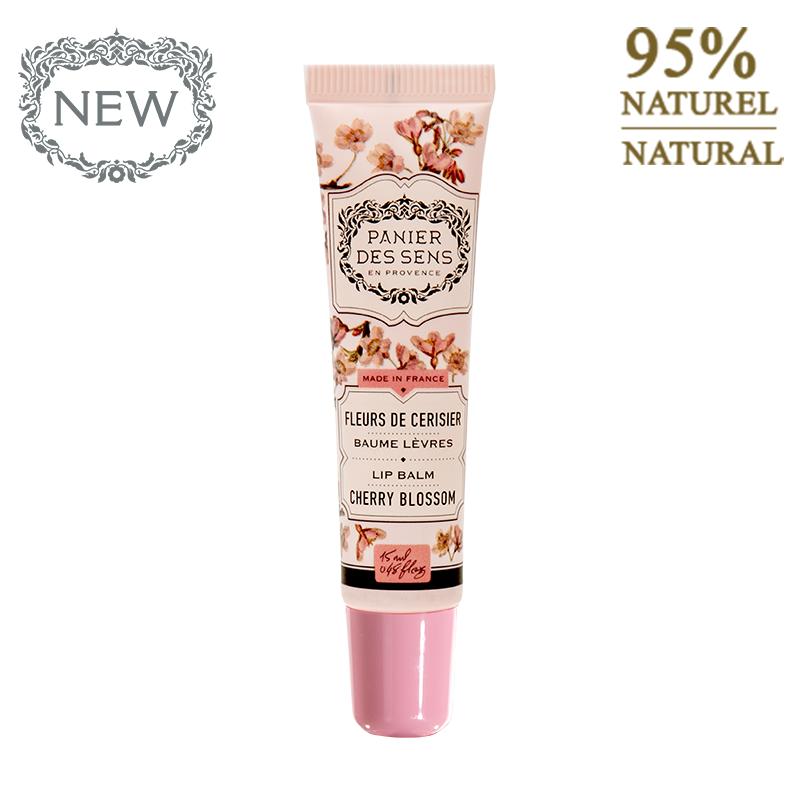 Lūpų balzamas PANIER DES SENS Cherry Blossom, 15 ml