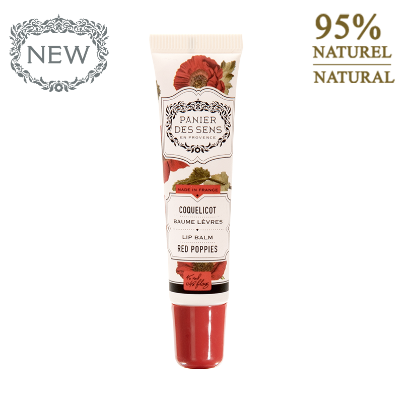 Lūpų balzamas PANIER DES SENS Red Poppies, 15 ml