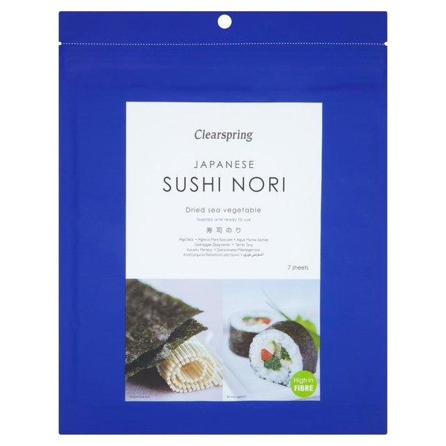 Skrudinti SUSHI NORI lapeliai CLEARSPRING, 7vnt