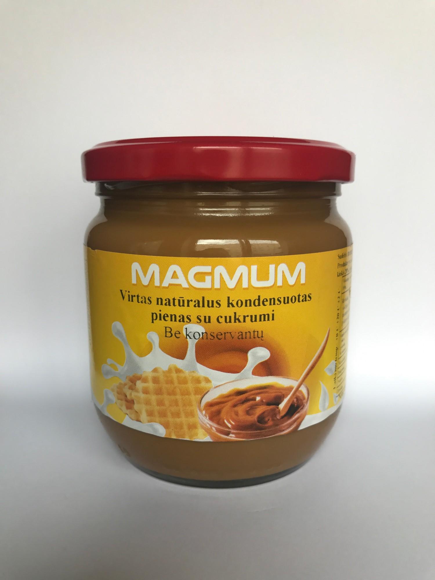 Virtas kondensuotas pienas MAGMUM, 485g