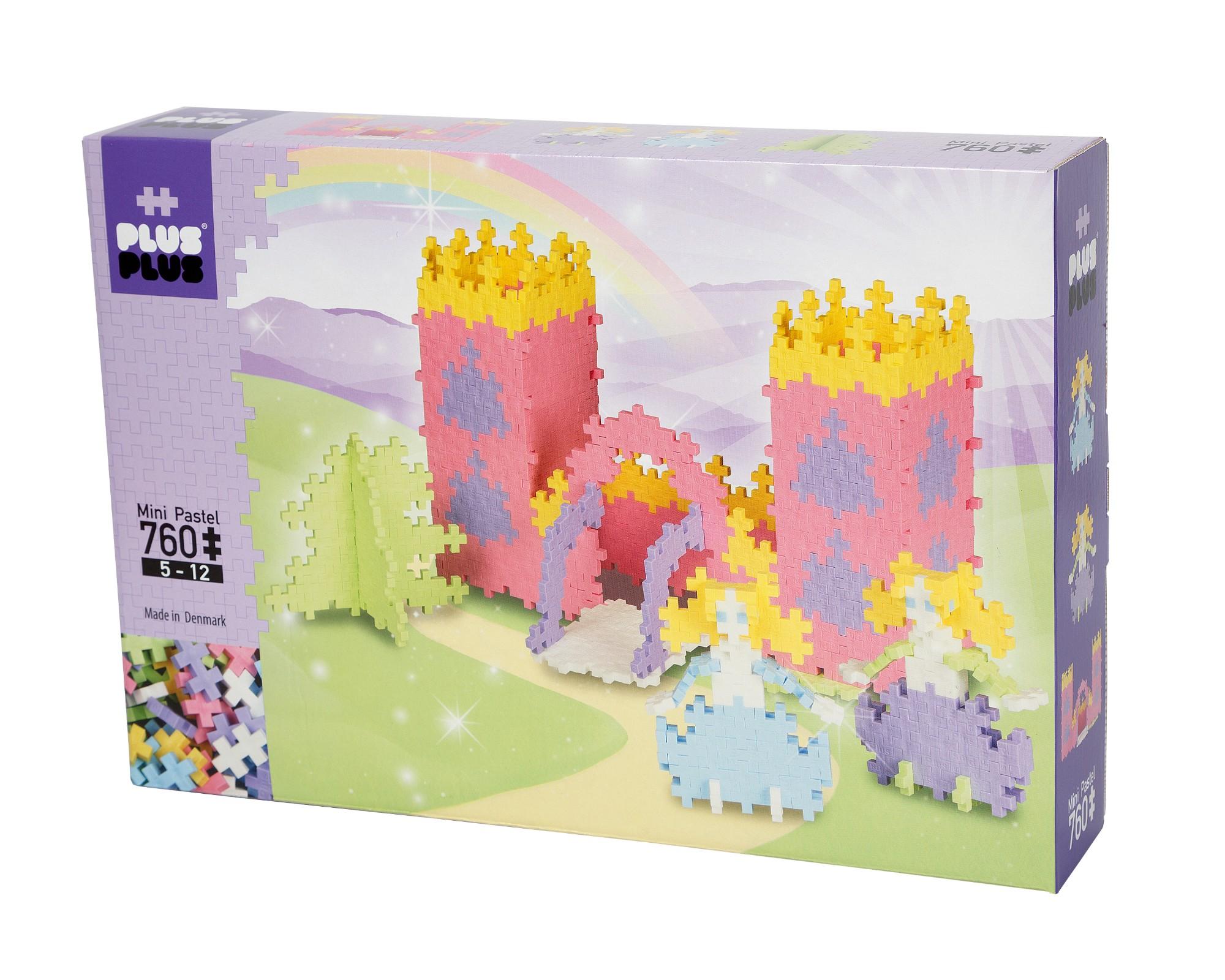 Konstruktorius PLUS PLUS Rožinė pilis vaikams nuo 5 metų (3744)