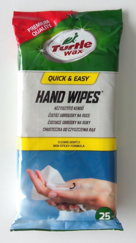 Rankų valymo servetėlės TURTLE WAX, 25 vnt.