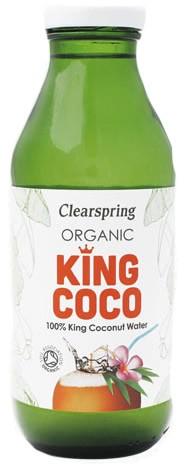 Ekologiškas kokosų vanduo KING COCO CLEARSPRING, 350g