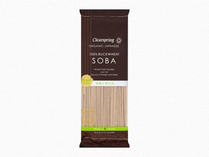 Ekologiški grikių miltų SOBA makaronai CLEARSPRING, 200g