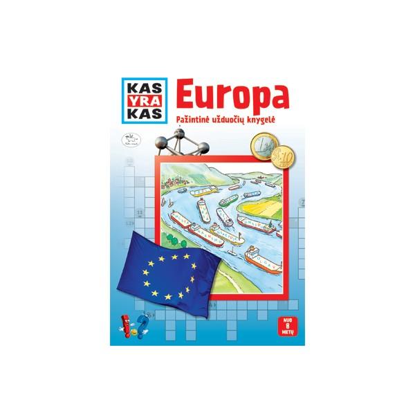 Užduočių knygelė NIEKO RIMTO Kas yra kas – Europa 7-10 m. vaikams