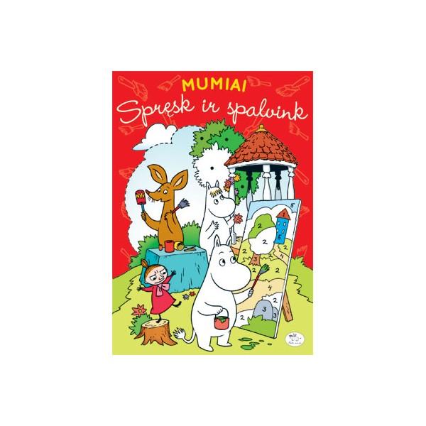 Užduočių knygelė NIEKO RIMTO Mumiai – Spręsk ir spalvink 3-6 m. vaikams