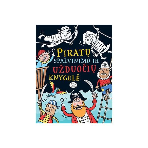 Piratų spalvinimo ir užduočių knygelė NIEKO RIMTO 3-6 m. vaikams