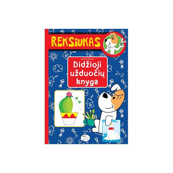 Didžioji užduočių knyga NIEKO RIMTO Reksiukas 3-6 m. vaikams