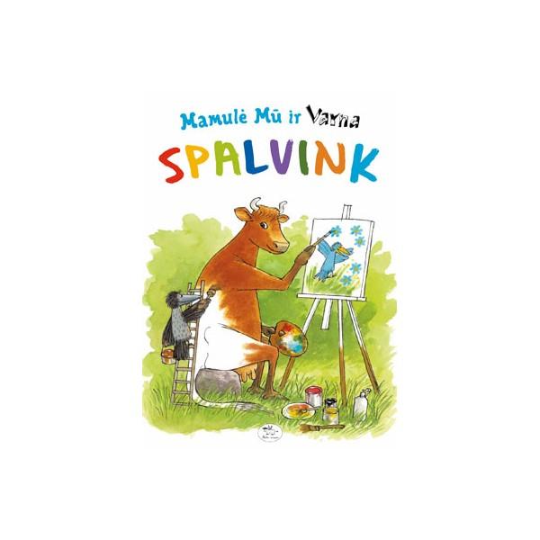 Užduočių knygelė NIEKO RIMTO Spalvink – Mamulė Mū ir Varna 3-6 m. vaikams