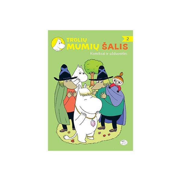 Užduočių knygelė NIEKO RIMTO Trolių Mumių šalis – Komiksai ir užduotėlės 2 3-6 m. vaikams