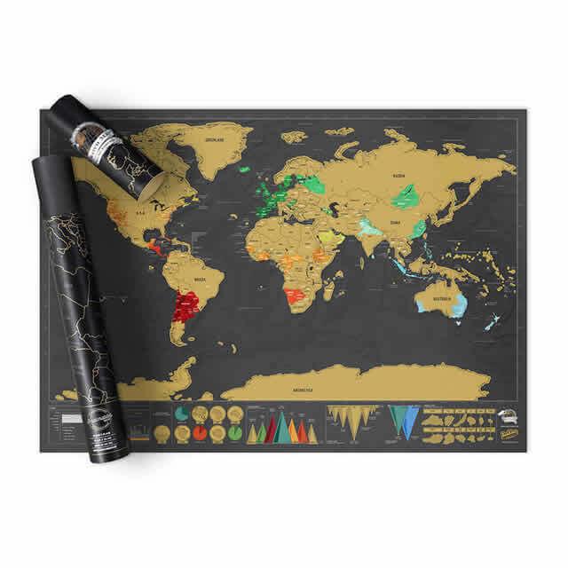 Nutrinamas pasaulio žemėlapis Deluxe Edition, 1 vnt.
