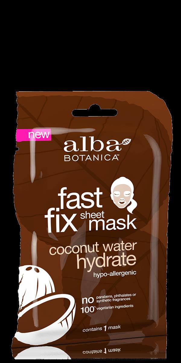 Drėkinanti veido kaukė ALBA BOTANICA su kokosų vandeniu, 1 vnt.