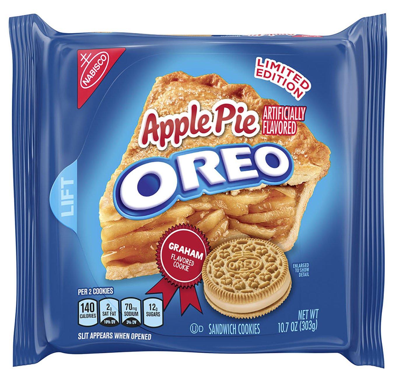 Sausainiai OREO su obuolių pyrago skonio kremu, 303g