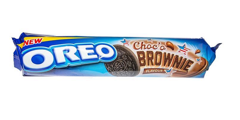 Sausainiai OREO su brownie kremu, 154g